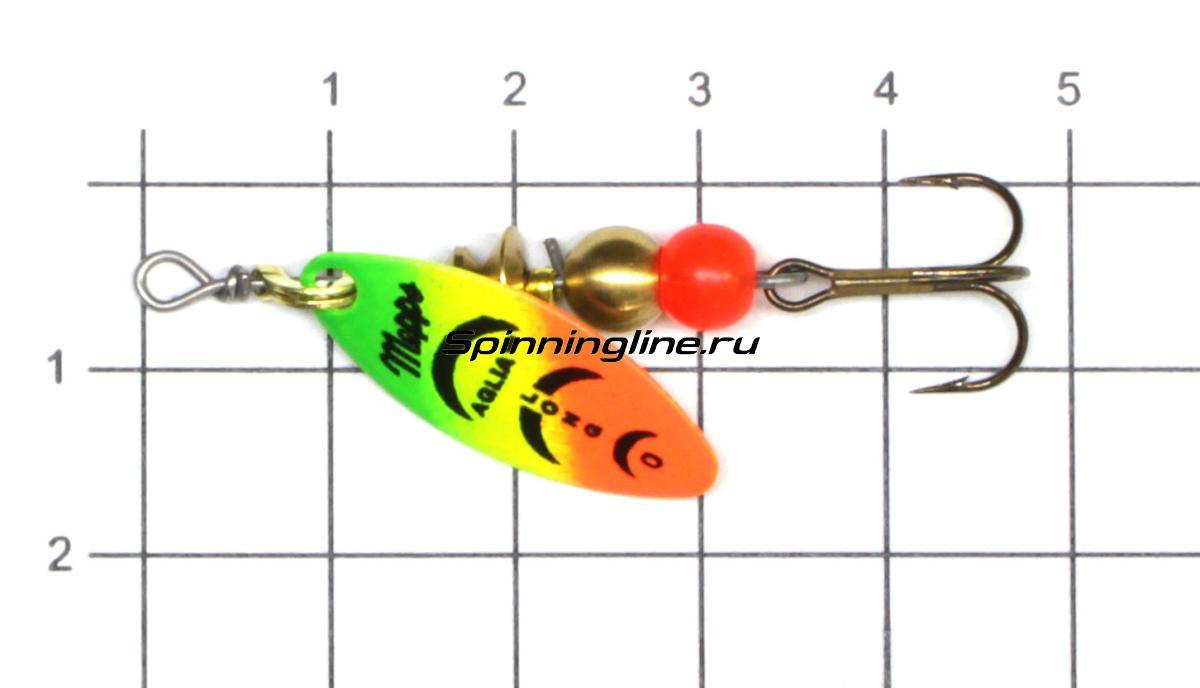 Блесна Mepps Aglia Longue Rainbo 0 G 2,5гр - фото на размерной линейке (цвет может отличаться) 1