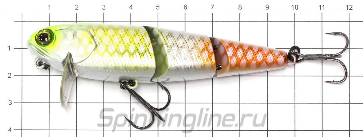 Воблер Jackall Deka HAMA-KU-RU R snake head - фото на размерной линейке (цвет может отличаться) 1