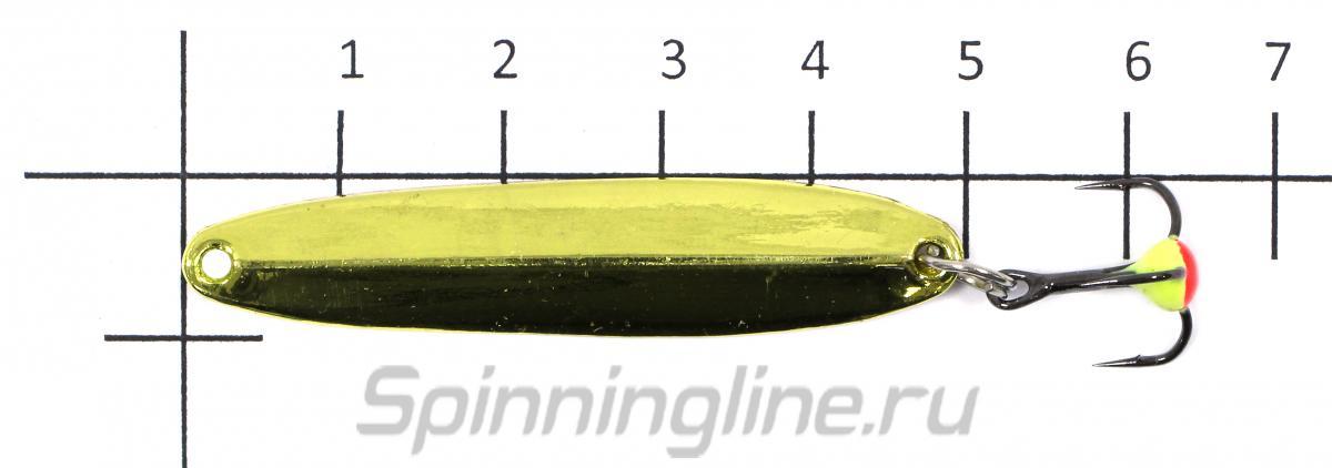 Блесна Nord Water's Судачья 50 S silver flex - фото на размерной линейке (цвет может отличаться) 1