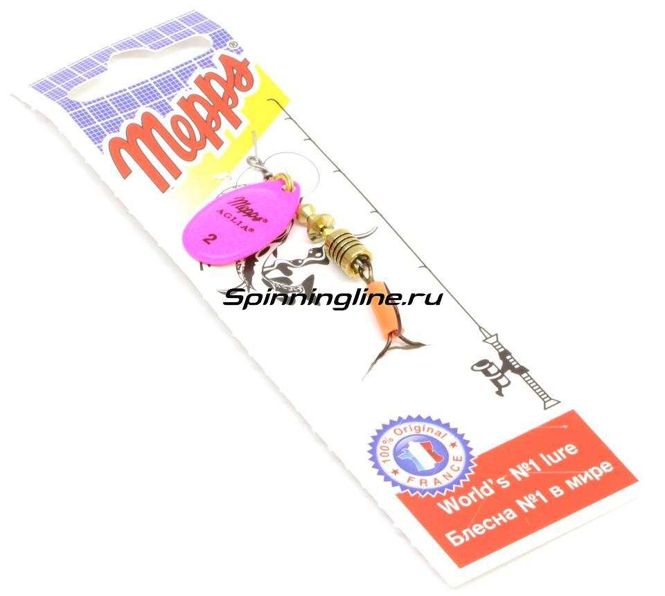 Блесна Mepps Aglia Fluo 2 Black 4,5гр - Данное фото демонстрирует вид упаковки, а не товара. Товар на фото может отличаться по цвету, комплектации и т.д. Дизайн упаковки может быть изменен производителем 1