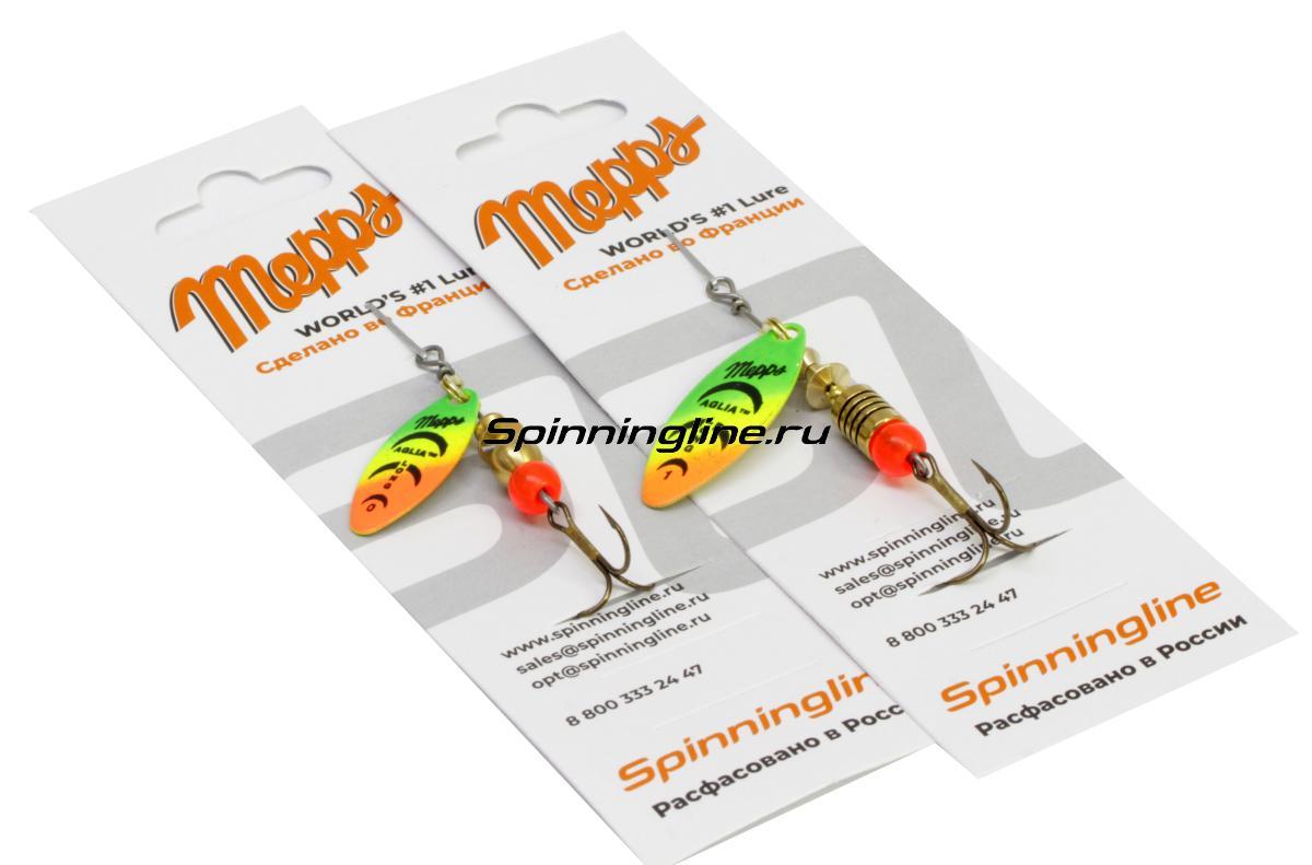 Блесна Mepps Aglia Longue Rainbo 0 G 2,5гр - Данное фото демонстрирует вид упаковки, а не товара. Товар на фото может отличаться по цвету, комплектации и т.д. Дизайн упаковки может быть изменен производителем 1