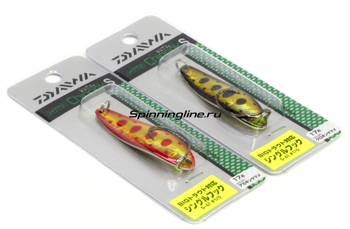 Блесна Daiwa L Chinook S 14 Gold Forest - Данное фото демонстрирует вид упаковки, а не товара. Товар на фото может отличаться по цвету, комплектации и т.д. Дизайн упаковки может быть изменен производителем 1