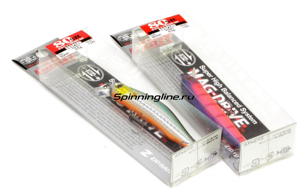Воблер Zipbaits Orbit 80SP-SR 070 - Данное фото демонстрирует вид упаковки, а не товара. Товар на фото может отличаться по цвету, комплектации и т.д. Дизайн упаковки может быть изменен производителем 1