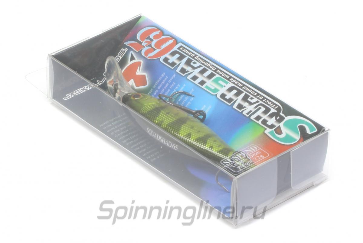 Воблер Jackall Squad Shad 65 matt tiger - Данное фото демонстрирует вид упаковки, а не товара. Товар на фото может отличаться по цвету, комплектации и т.д. Дизайн упаковки может быть изменен производителем 1