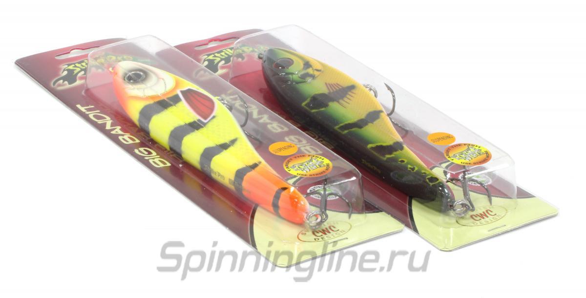 Воблер Strike Pro Big Bandit EG-078 C195 - Данное фото демонстрирует вид упаковки, а не товара. Товар на фото может отличаться по цвету, комплектации и т.д. Дизайн упаковки может быть изменен производителем 1
