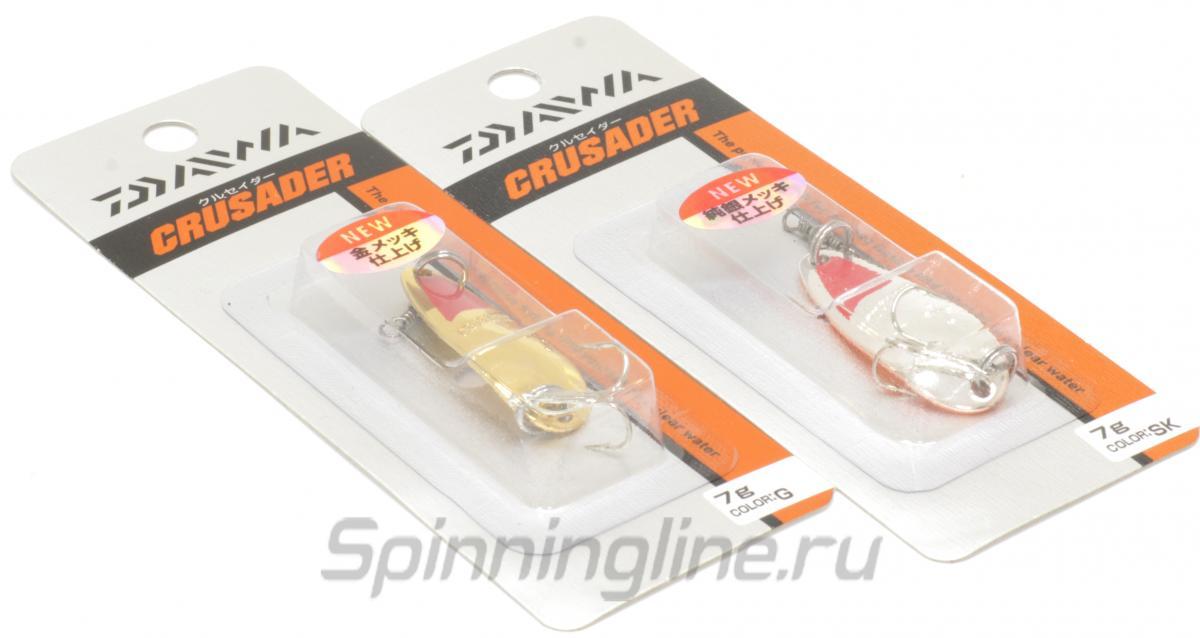 Блесна Daiwa Crusader 7 SK - Данное фото демонстрирует вид упаковки, а не товара. Товар на фото может отличаться по цвету, комплектации и т.д. Дизайн упаковки может быть изменен производителем 1