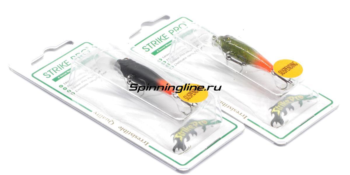 Воблер Strike Pro EG-074SP A47FL светящийся - Данное фото демонстрирует вид упаковки, а не товара. Товар на фото может отличаться по цвету, комплектации и т.д. Дизайн упаковки может быть изменен производителем 1