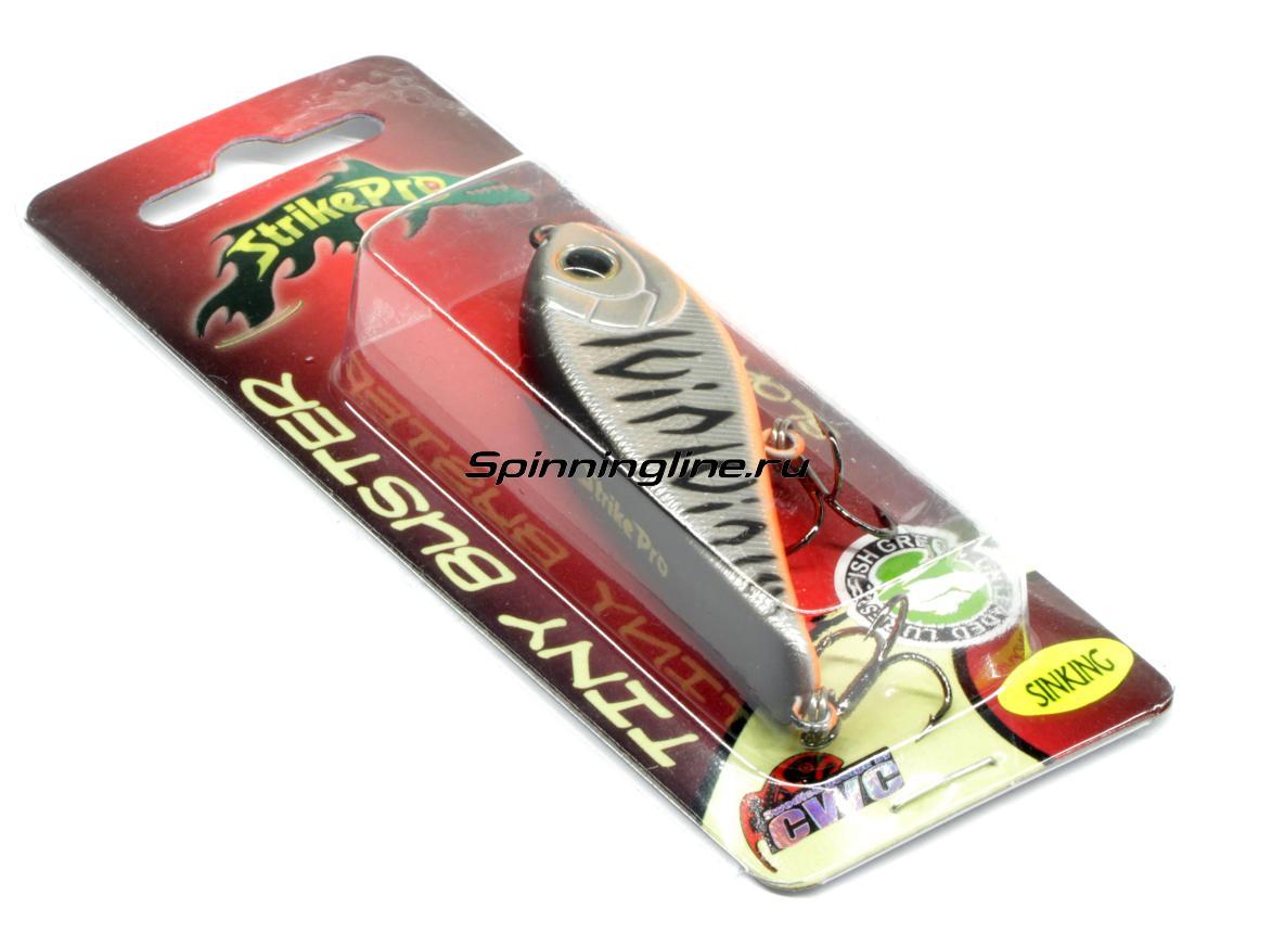 Воблер Strike Pro Tiny Buster EG-149 A133T - Данное фото демонстрирует вид упаковки, а не товара. Товар на фото может отличаться по цвету, комплектации и т.д. Дизайн упаковки может быть изменен производителем 1