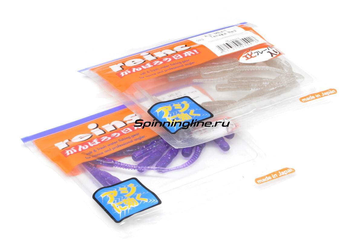 Приманка Reins Aji Meat 105 Glow Buddlegum - Данное фото демонстрирует вид упаковки, а не товара. Товар на фото может отличаться по цвету, комплектации и т.д. Дизайн упаковки может быть изменен производителем 1