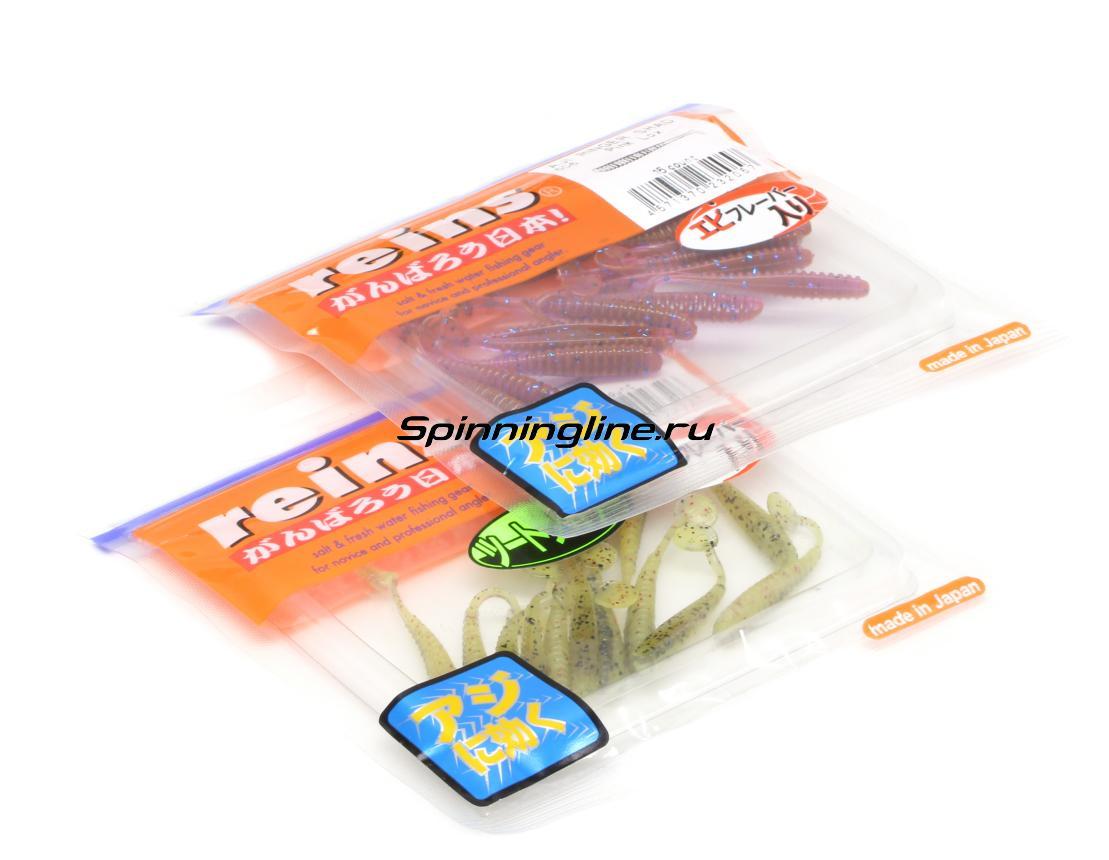 Приманка Reins Aji Ringer Shad 128 Glow Bubblegum Silver - Данное фото демонстрирует вид упаковки, а не товара. Товар на фото может отличаться по цвету, комплектации и т.д. Дизайн упаковки может быть изменен производителем 1