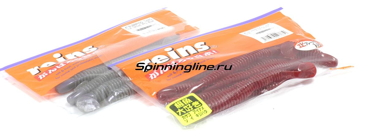 """Приманка Reins Bubbring Shad 2"""" 004 Scupperong - Данное фото демонстрирует вид упаковки, а не товара. Товар на фото может отличаться по цвету, комплектации и т.д. Дизайн упаковки может быть изменен производителем 1"""