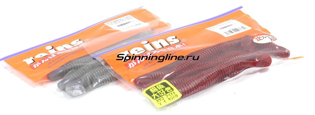 """Приманка Reins Bubbring Shad 3"""" 004 Scuppernong - Данное фото демонстрирует вид упаковки, а не товара. Товар на фото может отличаться по цвету, комплектации и т.д. Дизайн упаковки может быть изменен производителем 1"""