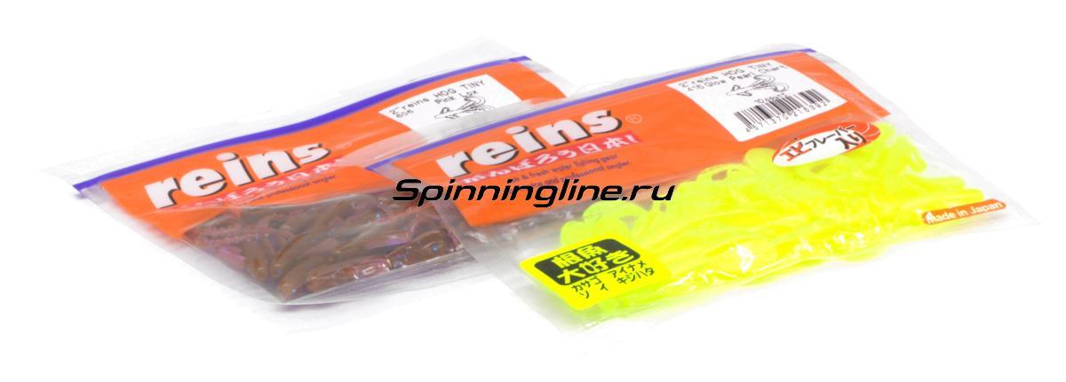 """Приманка Reins Hog Tiny 2"""" 025 Watermelon Red - Данное фото демонстрирует вид упаковки, а не товара. Товар на фото может отличаться по цвету, комплектации и т.д. Дизайн упаковки может быть изменен производителем 1"""
