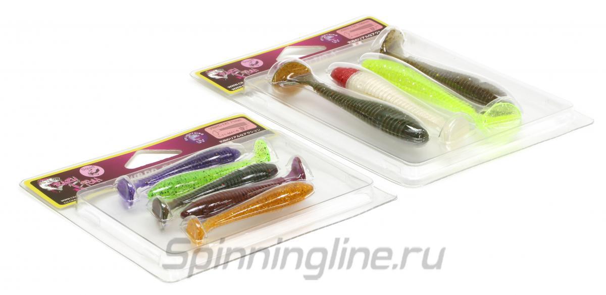 """Приманка Crazy Fish Vibro Fat 4"""" 15d-6 - Данное фото демонстрирует вид упаковки, а не товара. Товар на фото может отличаться по цвету, комплектации и т.д. Дизайн упаковки может быть изменен производителем 1"""