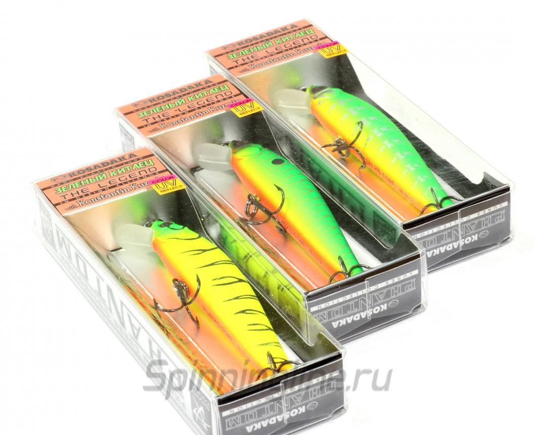 Воблер Kosadaka The Legend XS 90F PC - Данное фото демонстрирует вид упаковки, а не товара. Товар на фото может отличаться по цвету, комплектации и т.д. Дизайн упаковки может быть изменен производителем 1