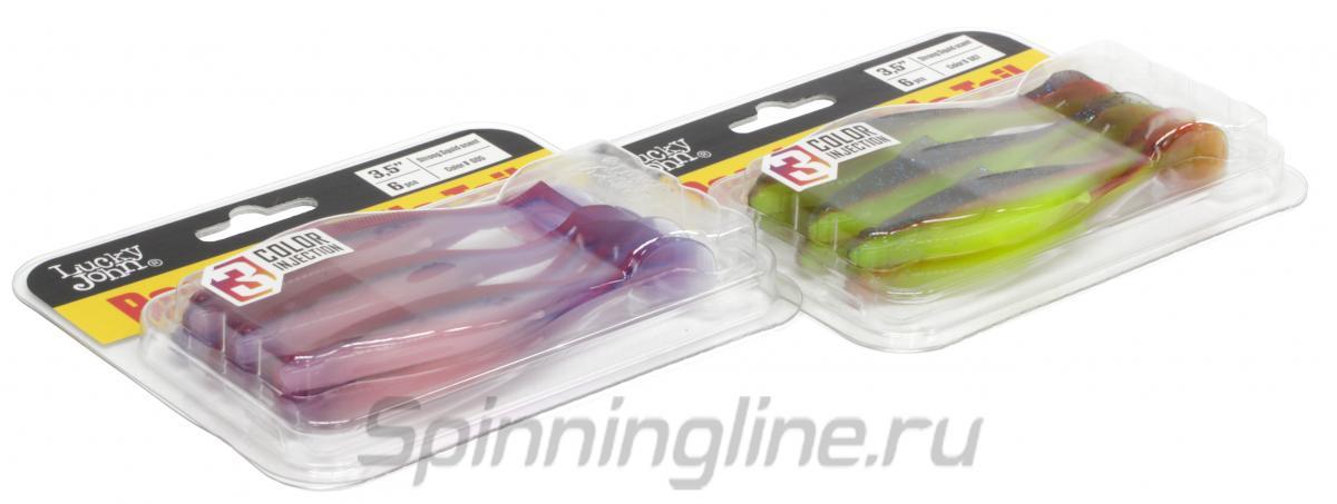 Приманка Lucky John Roach Paddle Tail 127/G01 - Данное фото демонстрирует вид упаковки, а не товара. Товар на фото может отличаться по цвету, комплектации и т.д. Дизайн упаковки может быть изменен производителем 1
