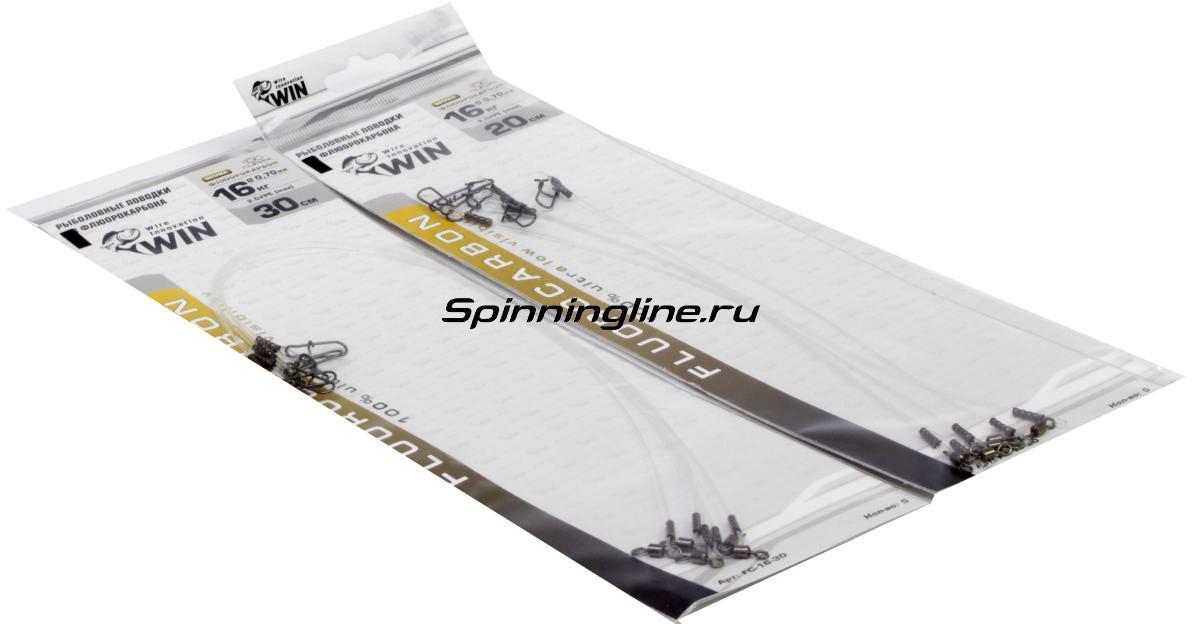 Поводок Wire Innovation Fluorocarbon 30см 0,60мм 11кг - Данное фото демонстрирует вид упаковки, а не товара. Товар на фото может отличаться по цвету, комплектации и т.д. Дизайн упаковки может быть изменен производителем 1