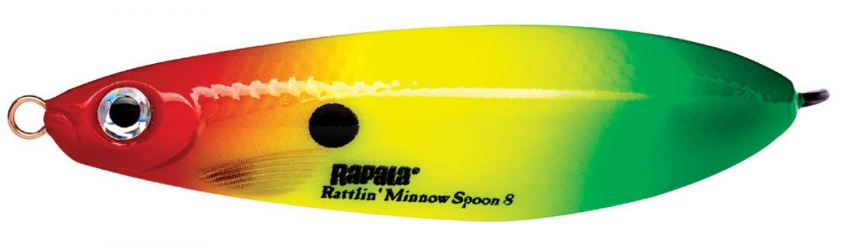 Блесна Rapala Rattlin Minnow Spoon 08 RYGR