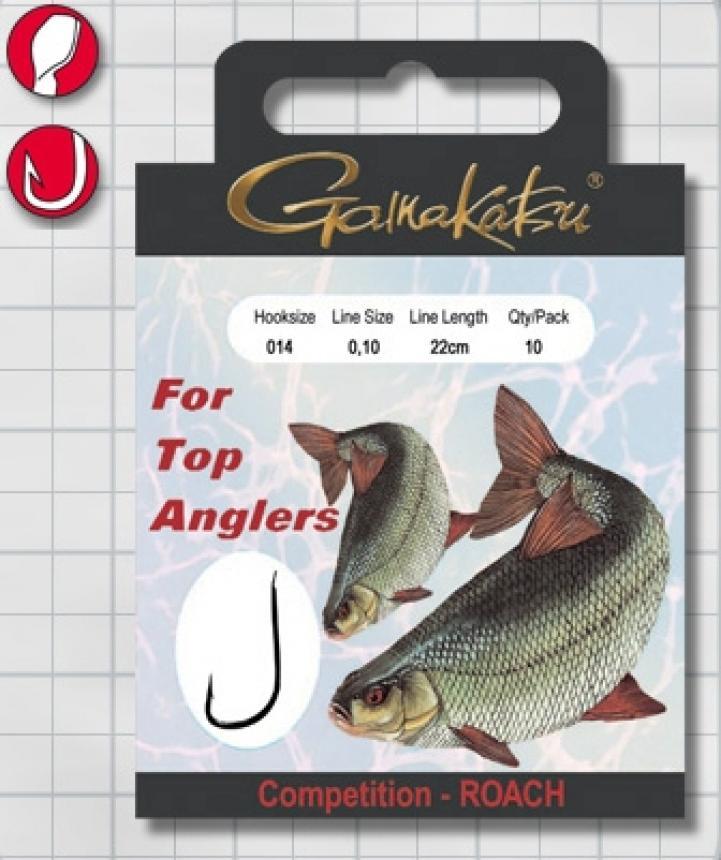 Готовый поводок Gamakatsu BKS-1010R Roach №18 22см d0,10