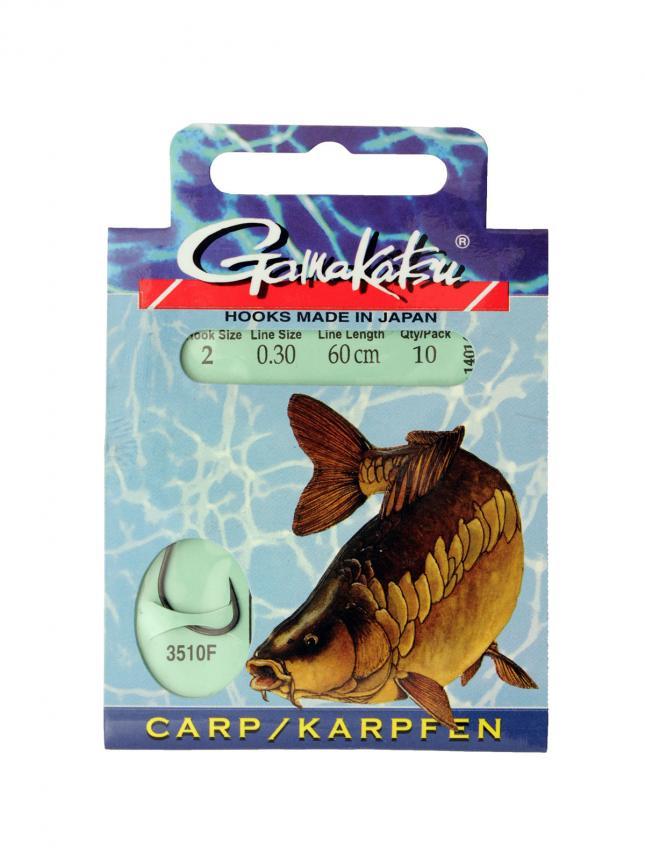 Готовый поводок Gamakatsu BKS-3510F Carp №2 60см d0,30