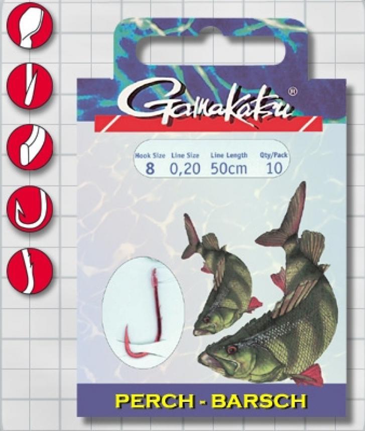 Готовый поводок Gamakatsu BKS-5260R Perch №6 50см d0,22