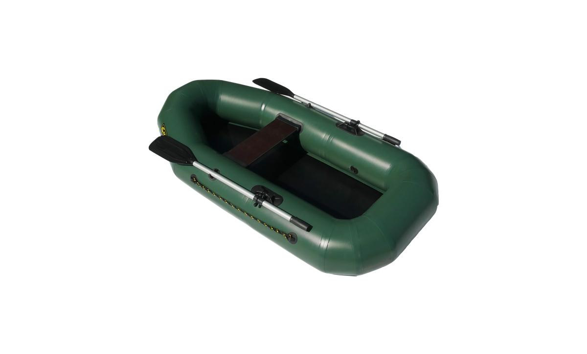 Лодка ПВХ Leader Компакт-210 гребная зеленый