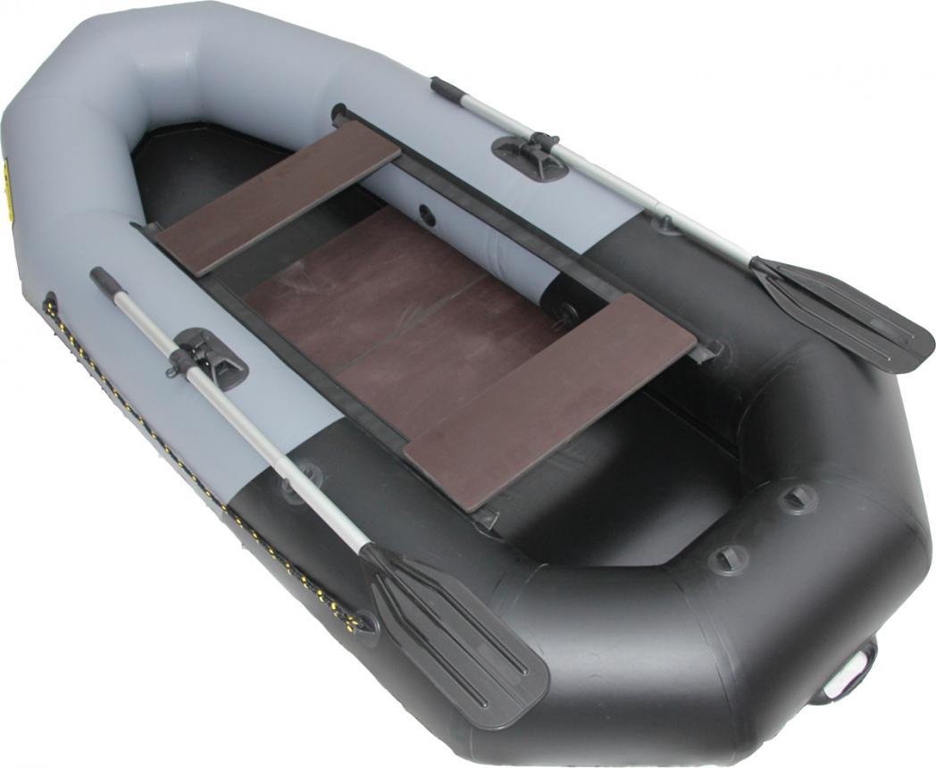 Лодка ПВХ Leader Компакт-265 гребная серый/черный