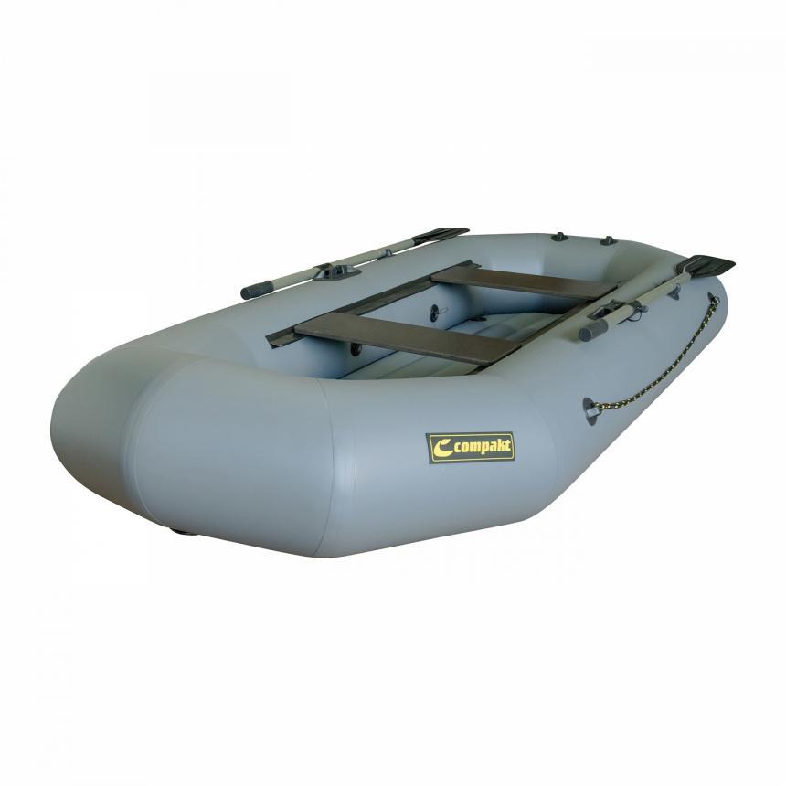 Лодка ПВХ Leader Компакт-270 гребная серый