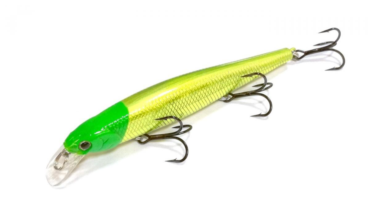 Воблер Lucky Craft Slender Pointer 97MRS 0946 Green Had Chart 765