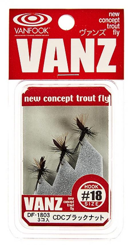 Набор мушек Vanfook Dry Fly 1803 CDC black gnat