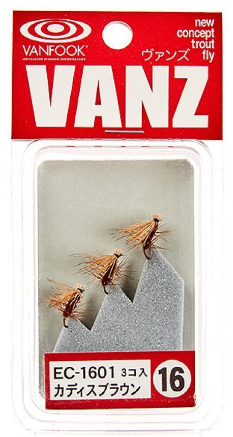 Набор мушек Vanfook Eil Hair Caddis 1601 brown
