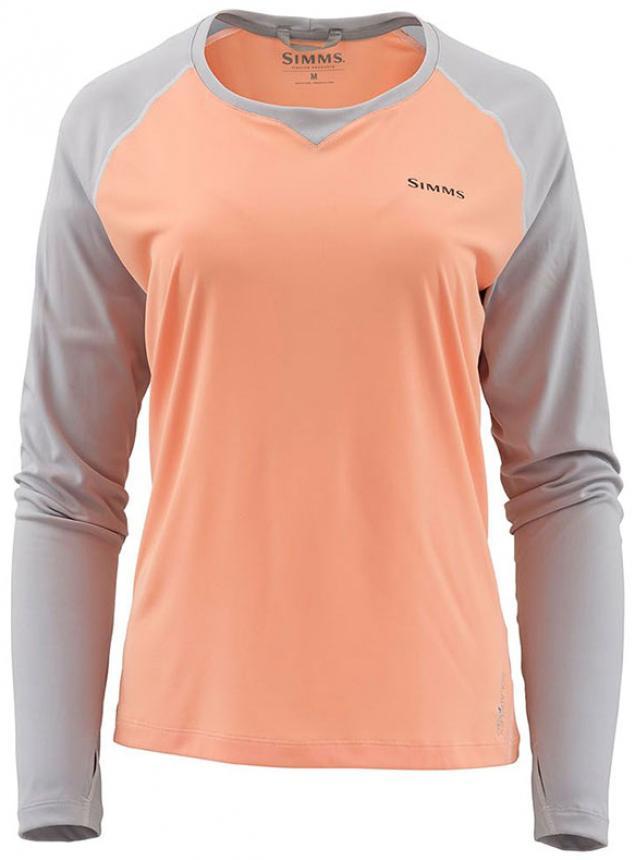 Рубашка Simms Womens Solarflex Crewneck XL Sorbet/Sterling
