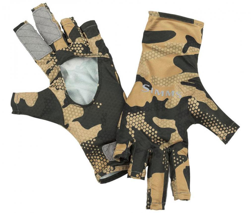 Перчатки Simms BugStopper SunGlove S Hex Flo Camo Timber