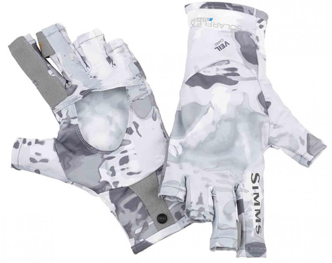 Перчатки Simms SolarFlex SunGlove S Cloud Camo Grey