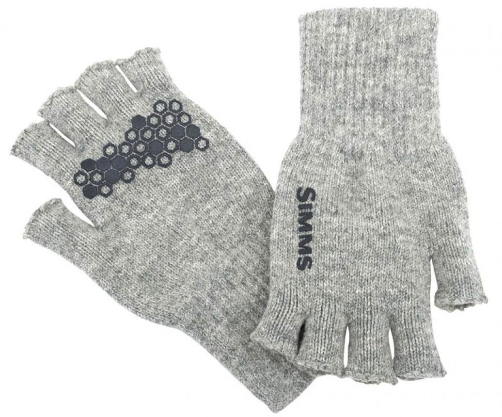 Перчатки Simms Wool Half-Finger Glove S/M Cinder