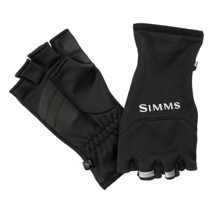 Перчатки Simms Freestone Half Finger Mitt L Black