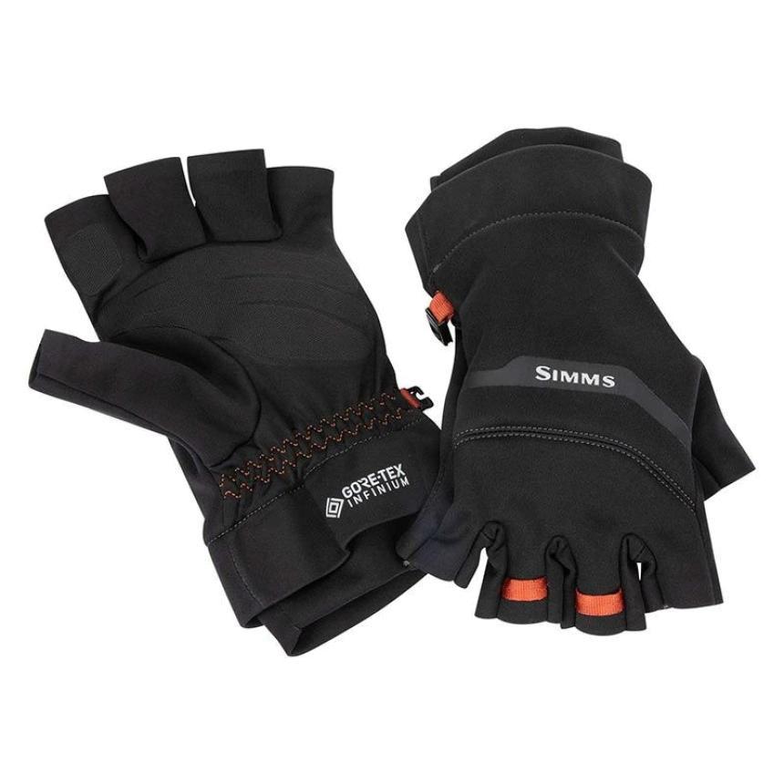 Перчатки Simms Gore-Tex Infinium Half Finger L Black