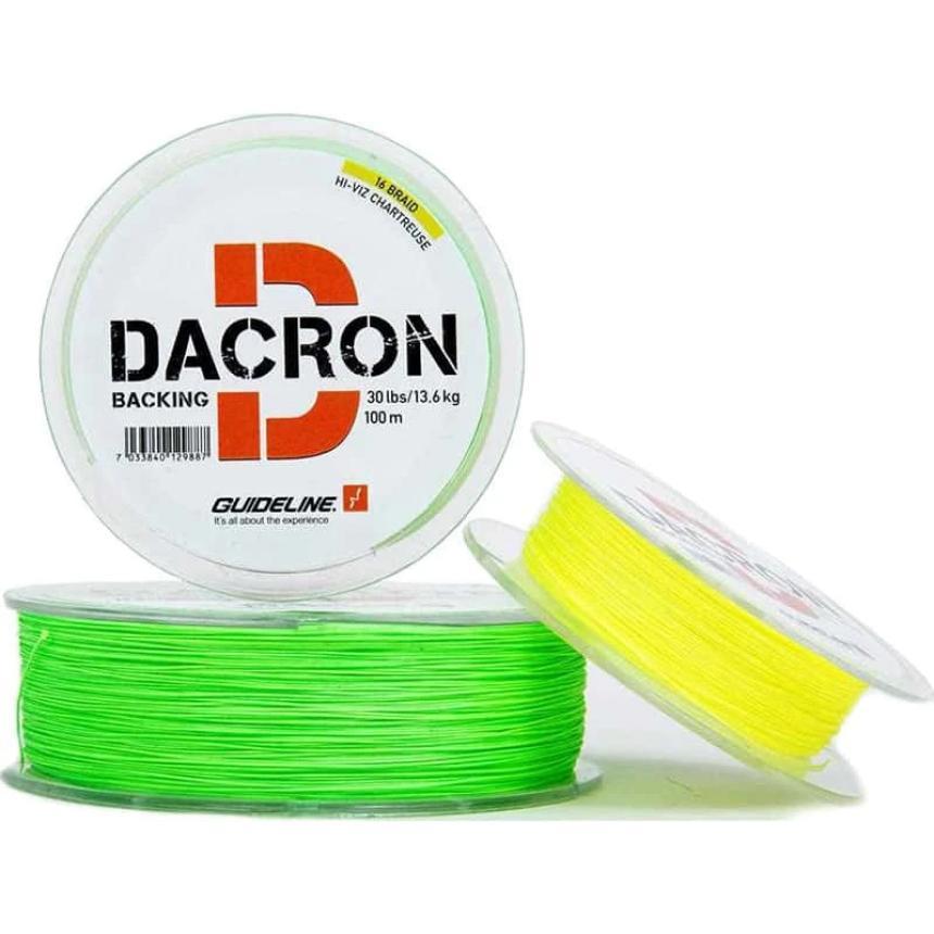 Бэкинг Guideline Darcon Backing 100м 30lb Chartreuse