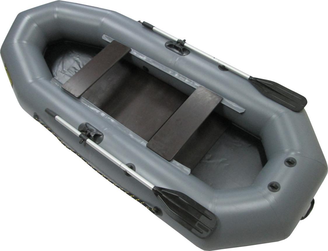 Лодка ПВХ Leader Компакт-280 гребная серый
