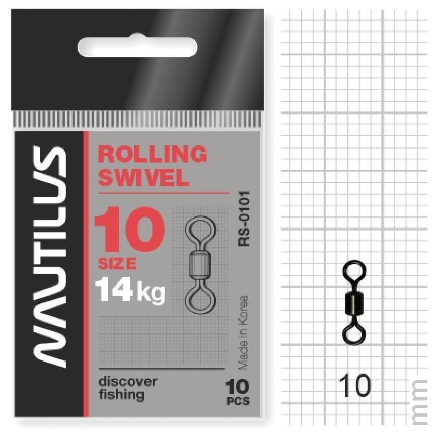 Вертлюг Nautilus Rolling Swivel 0101 №10