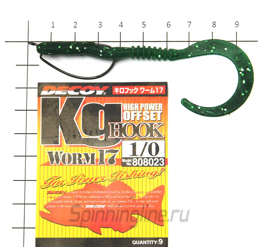 "Приманка Reins Curly Curly 4"" 025 Watermelon Red - фотография оснащения приманок 1"