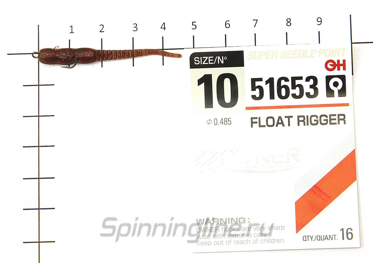 Приманка Reins Aji Meat 129 Glow Chart Silver - фотография оснащения приманок 1