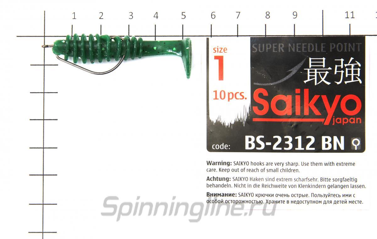 "Приманка Reins Bubbring Shad 2"" 129 Glow Chart Silver - фотография оснащения приманок 3"